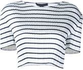 Alexander Wang striped cropped top - women - Polyester - L