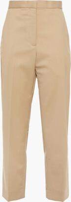 Sandro Feyne Cropped Twill Straight-leg Pants