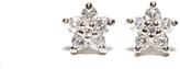 Sterling Silver CZ Baby Flower Stud Earrings