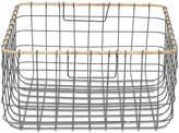 Nkuku Lemba Wire Basket - Grey & Wicker