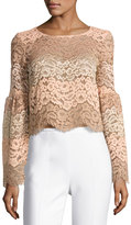 WAYF Time Stops Lace Crop Top, Light Pink