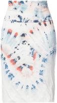 Raquel Allegra tie-dye detail skirt