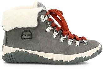 Sorel Out N About Plus Conquest Faux Fur Suede Hiking Boots