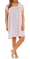 Eileen West Plus Ditsy Floral Jersey Nightgown