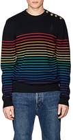 J.W.Anderson Men's Rainbow-Striped Merino Wool Sweater