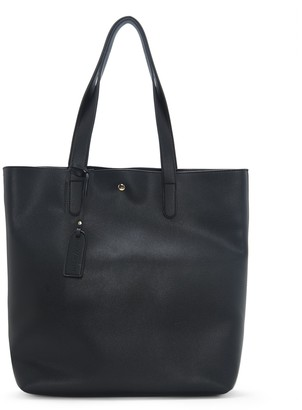 Sole Society Women's Hyda Tote Vegan Leather Black From