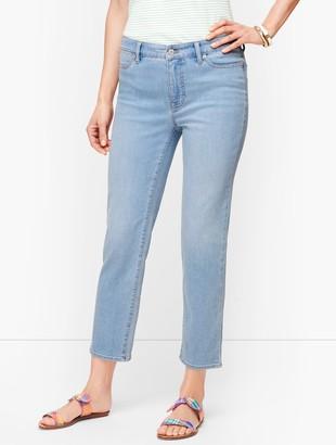 Talbots Straight Leg Crop Jeans - Seaview Wash