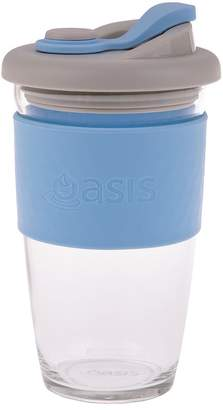 Oasis Borosiliate Glass Eco Cup 454ml Powder Blue