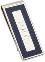 JCPenney Personalized Money Clip w/ Navy Blue Enamel Border