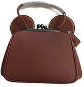 Coach X Disney 1941 Collection Mickey KissLock Bag in Saddle/Gunmetal