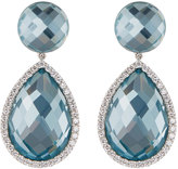 Roberto Coin 18k White Gold Blue Topaz & Diamond Drop Earrings