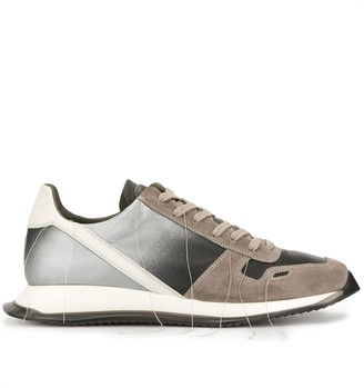 Rick Owens gradient panel sneakers