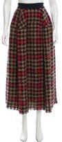 Talbot Runhof Fringe-Accented Midi Skirt