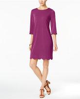 NY Collection Petite Scalloped Sheath Dress
