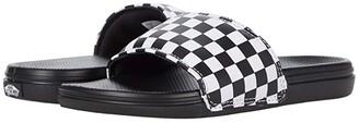 Vans Kids La Costa Slide-On (Little Kid) ((Checkerboard) White) Kid's Shoes