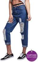 SikSilk R.i.p Mom Fit Ripped Jeans
