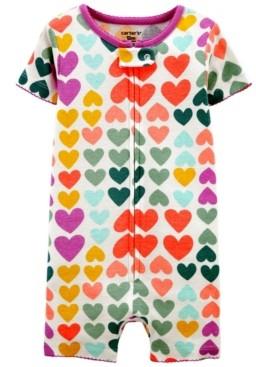 Carter's Toddler Girls Hearts Snug Fit Romper Pajama Set