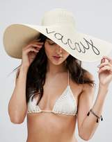 Asos Vacay Sequin Straw Hat