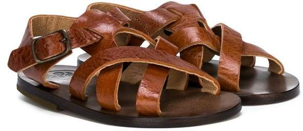 Pépé crossover strap sandals