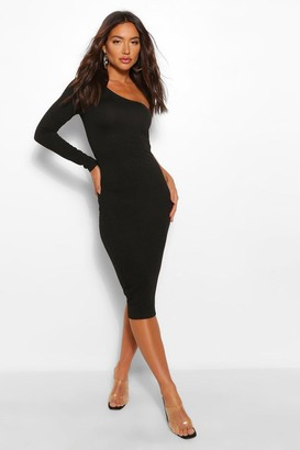 boohoo One Sleeve Midi Dress