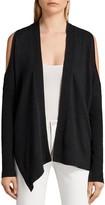 AllSaints Reya Cold-Shoulder Cardigan