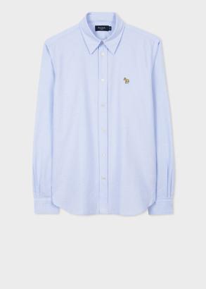 Paul Smith Men's Tailored-Fit Light Blue 'Zebra' Cotton Shirt