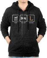 Humör Men's Eat Sleep League Repeat Gaming Zip-Up Hoodies