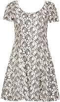 Izabel London Embroidered Floral Lace Dress