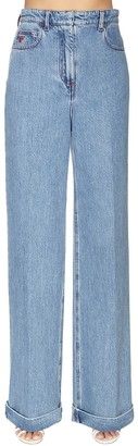 Philosophy di Lorenzo Serafini Cotton Denim Wide Leg Pants
