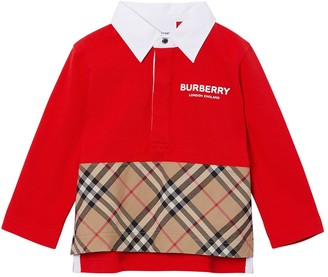 Burberry Cotton Pique & Poplin Polo Shirt