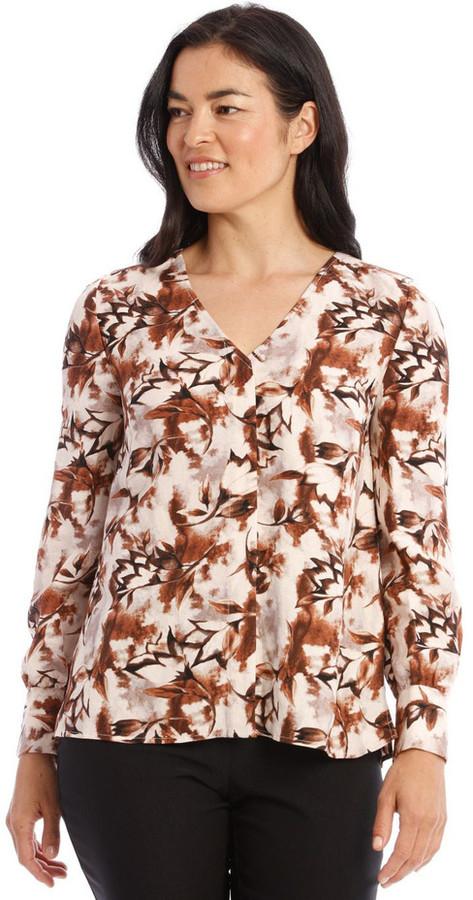 Regatta Collarless V-Neck Long Sleeve Shirt