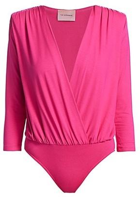 Andamane Danielle Surplice Long-Sleeve Bodysuit