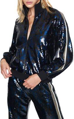 Pam & Gela Sequin Track Jacket