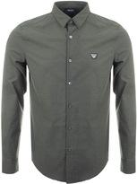 Giorgio Armani Jeans Slim Fit Diamond Stretch Shirt Khaki