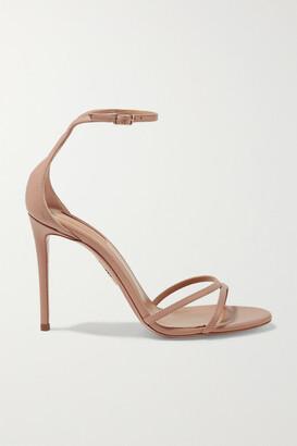 Aquazzura Purist 105 Leather Sandals - Blush