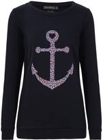 Sugarhill Boutique FLORAL ANCHOR SWEATER