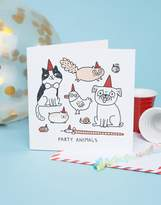 OHH DEER Ohh Deer Party Animals Square Birthday Card