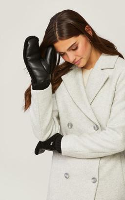 Soia & Kyo BEATE polar fleece lined faux Sherpa mittens