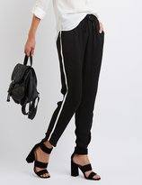 Charlotte Russe Striped-Side Dressy Jogger Pants