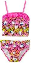 Hello Kitty Girl's 7-16 Animal Ruffle Tankini Set