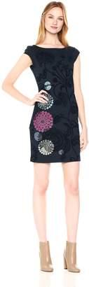 Desigual Women's Crhystel Woman Knitted Short Sleeve Dress