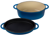 Le Creuset 4.5QT. Multi-Function Oval Oven with Grill Pan Lid