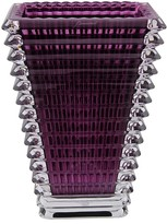 Baccarat Eye Purple Small Rectangular Vase