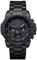 Luminox Men's 45mm Black Steel Bracelet & Case Swiss Quartz Chronograph Watch 3182BO