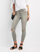 Charlotte Russe Refuge Hi-Rise Skinny Destroyed Jeans
