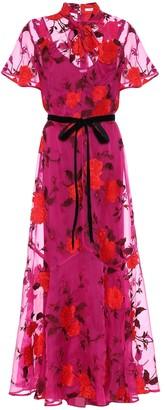 Erdem Celestina floral silk-organza gown