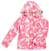 Urban Republic Girls 2-6x Faux Fur Trimmed Tie Dye Coat