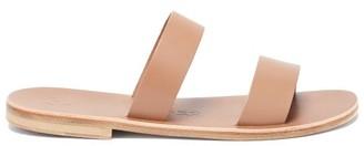 Álvaro González Alex Double-strap Leather Slides - Tan