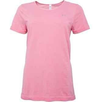 Under Armour Womens Seamless Melange Top Pink