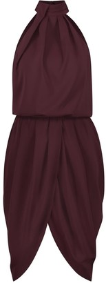 Iconic Burgundy Midi Cocktail Dress